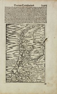Antique Maps, Münster, Netherlands, Holland, 1574: [Holand]