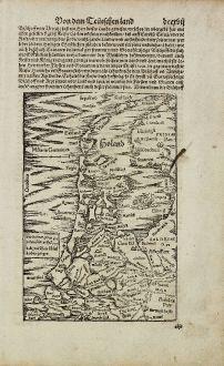 Antike Landkarten, Münster, Niederlande, Holland, 1574: [Holand]