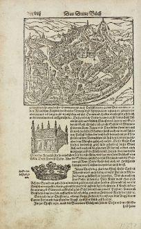 Antike Landkarten, Münster, Deutschland, Nordrhein-Westfalen, Aachen, Belgien: [Aachen] Vo dem Hertzogthumb Brabad, und seinen fürnembsten Stetten