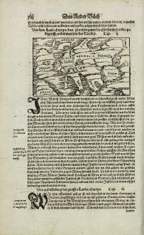 Antique Maps, Münster, Europe Continent, 1574: Von dem Land Europa, das zu unsern zeiten die Christenheit under im begreifft, und etwas von der Türckey.