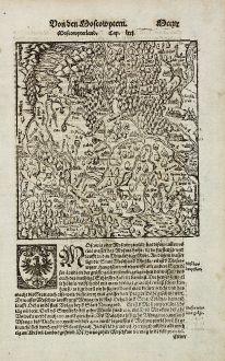 Antike Landkarten, Münster, Russland, Moskau, 1574: Von den Moscowytern / Moscowyterland