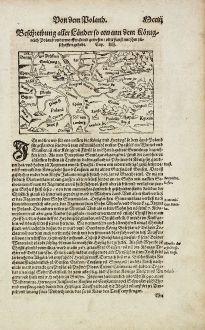 Antique Maps, Münster, Poland, 1574: Beschreibung aller Laender so etwann dem Koenigreich Poland underworffen seind gewesen...