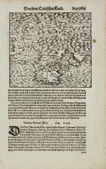 Antike Landkarten, Münster, Balkan, Slowenien, Kroatien, Istrien, Triest, 1574: Von den Stetten Istrie