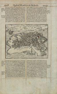 Antique Maps, de Belleforest, Tanzania, Kilwa Kisiwani, Quiloa, 1575: Quiloa