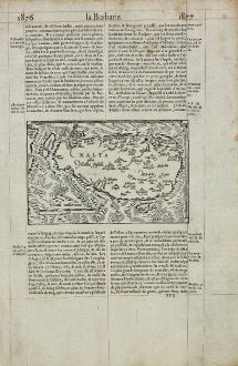 Antique Maps, de Belleforest, Malta, 1575: Malta olim Melita Insula.
