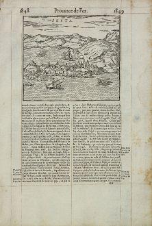 Antike Landkarten, de Belleforest, Spanien - Portugal, Ceuta, 1575: Septa