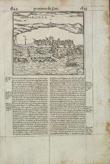 Antike Landkarten, de Belleforest, Nordafrika, Marokko, Asilah, Arzila, 1575: Arzilla