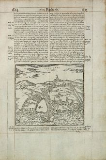 Antique Maps, de Belleforest, Morocco, Sale, 1575: Sala