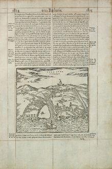 Antike Landkarten, de Belleforest, Nordafrika, Marokko, Sale, 1575: Sala