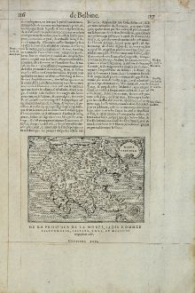 Antique Maps, de Belleforest, Greece, Peloponnese, 1575: Morea Penisola