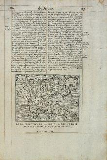 Antike Landkarten, de Belleforest, Griechenland, Peloponnese, 1575: Morea Penisola