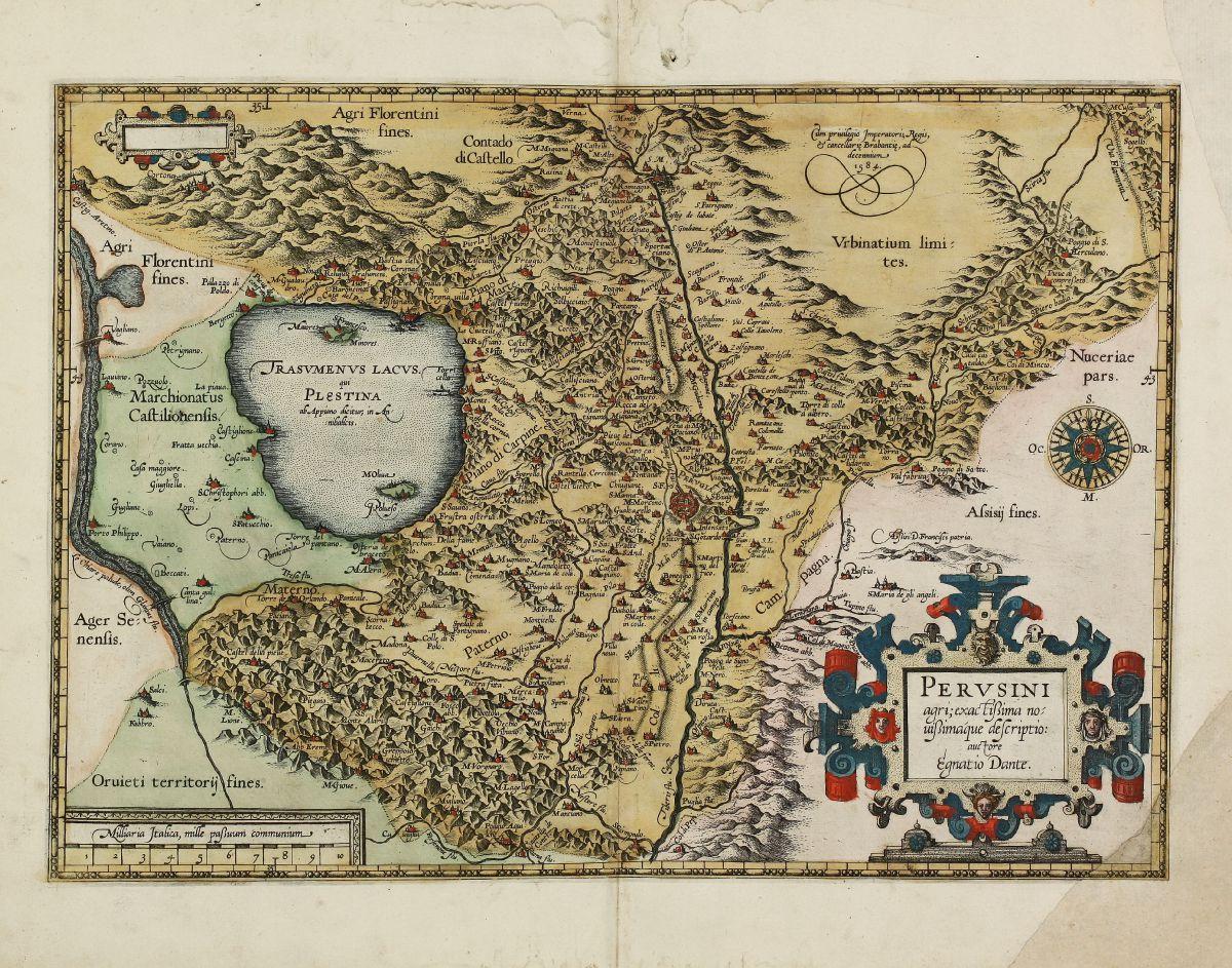 Italy - Ortelius, Abraham - Perusini Agri, Exactissima Novissimaque.
