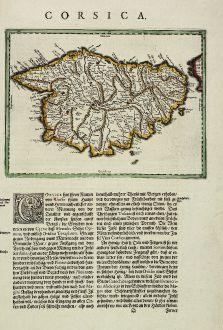 Antike Landkarten, Blaeu, Frankreich, Korsika, 1634: Corsica