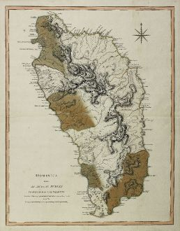 Antike Landkarten, Laurie & Whittle, Mittelamerika - Karibik, Antillen, Dominica: Dominica from An Actual Survey, Completed in the Year 1773 ... 1794