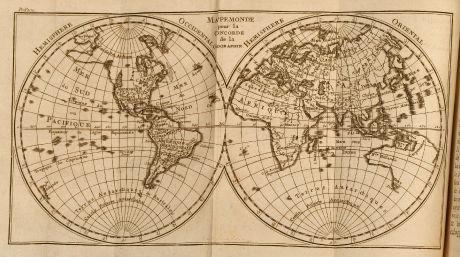 Bücher, Pluche, Geographie, 1772: Concorde de la Geographie des differents ages