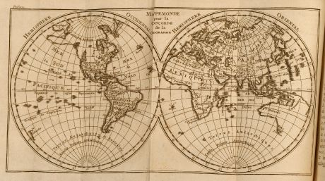 Books, Pluche, Geography, 1772: Concorde de la Geographie des differents ages