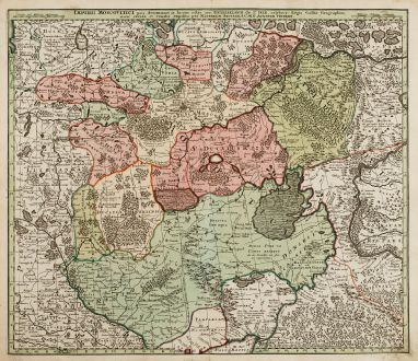 Antique Maps, Seutter, Russia, Moscow, Moskwa, 1730: Imperii Moscovitici pars Australis...