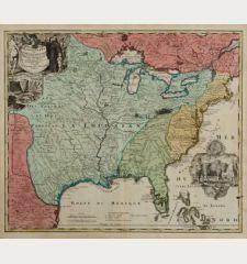 Amplissimae Regionis Mississipi seu Provinciae Ludovicianae a R.P. Ludovico Hennepin Francisc Miss in America Septentrionali...