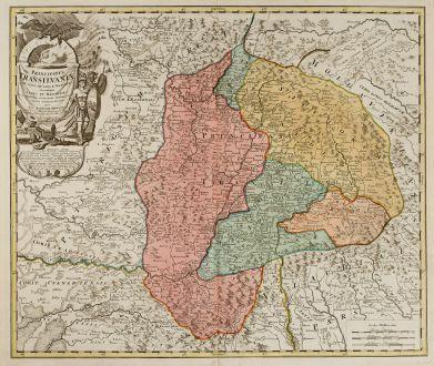 Antique Maps, Homann, Romania - Moldavia, Transylvania, 1730: Principatus Transilvaniae In Suas Quasque Nationes earumque Sedes Et Regiones cum sinitimis Vicionorum Statum Provinciis...