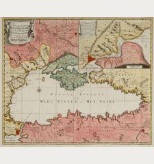 Novelle Carte de la Mer Noire et du Canal de Constantinople tres exacte mise au Jour par N. Visser nunc apud P. Schenk.