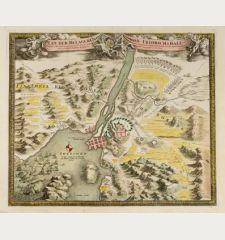 Plan der Belagerung von Friedrichshall, angefangen von Carl dem XII der Schweden Goth und Wenden König mit 10000 Mann 36...