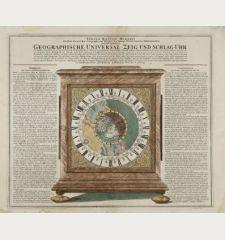 Geographische Universal-Zeig und Schlag-Uhr