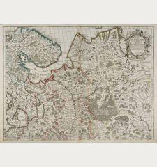 Carte de Moscovie. Dressee par Guillaume De l'Isle Premier Geographe du Roy.