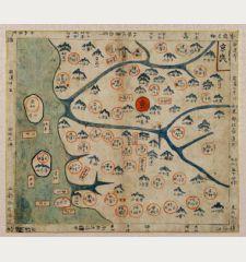 [Korean Manuscript Map of Kyonggi-do with Seoul]