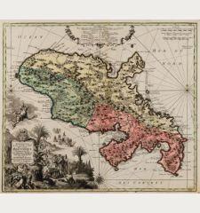 Representation la Plus Nouvelle et Exacte de l'Ile Martinique, la Premiere des Iles de l'Amerique Antilles