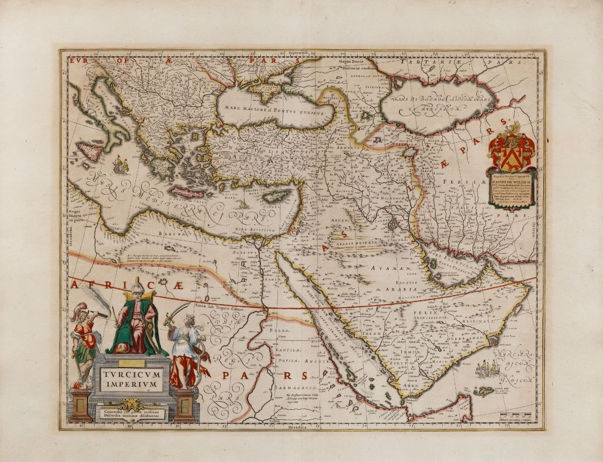 Antique maps and old atlases by willem janszoon blaeu gtzfried blaeu turkey ottoman empire 1635 turcicum imperium publicscrutiny Image collections