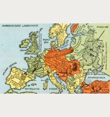 Humoristische Landkarte