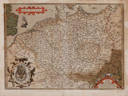 Antike Landkarten, Ortelius, Deutschland, 1570: Germania.