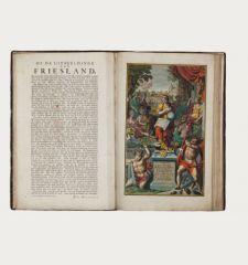 Uitbeelding der heerlijkheit Friesland, zoo in 't algemeen, als in haare... door Dr. Bern. Schotanus a Sterringa......