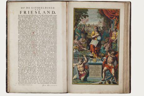 Atlanten, Schotanus van Sterringa, Benelux, Friesland, 1718: Uitbeelding der heerlijkheit Friesland, zoo in 't algemeen, als in haare... door Dr. Bern. Schotanus a Sterringa......