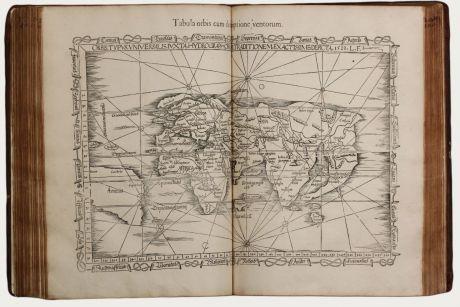 Atlanten, Fries, Ptolemaeus Atlas, 1541: Claudii Ptolemaei Alexandrini Geographicae Enarrationis, Libri Octo ... Prostant Lugduni apud Hugonem a Porta. M. D. XLI.
