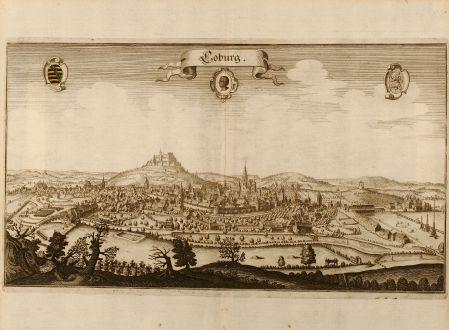Antike Landkarten, Merian, Deutschland, Coburg, 1650: Coburg