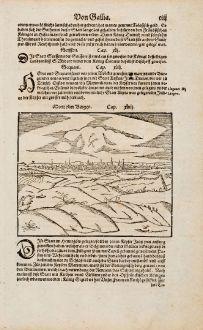 Antique Maps, Münster, Belgium, Hainaut, Mons, Bergen, 1574: Mont oder Bergen