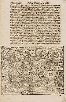 Antike Landkarten, Münster, Nordafrika, Algerien, Algier, 1574: Algier