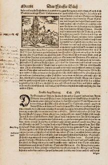 Antike Landkarten, Münster, Mittlerer Osten, Irak, Babylon, Turm zu Babel, 1574: [Babylon]