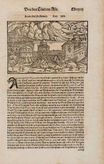 Antike Landkarten, Münster, Heiliges Land, Akkon, Akko, 1574: Accon oder Ptolemais