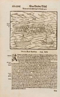 Antike Landkarten, Münster, Balkan, Kroatien, Zadar, 1574: Wahre abcontrafhetung der Statt Zara