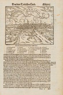Antike Landkarten, Münster, Niederlande, Groningen, 1574: Groeninga M.D.LXXIII.