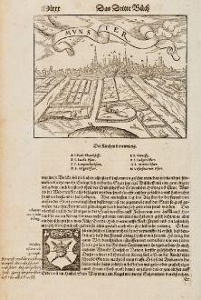 Antique Maps, Münster, Germany, North Rhine-Westphalia, Münster, 1574: Mvnster
