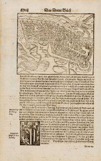 Antique Maps, Münster, Germany, Saxony-Anhalt, Magdeburg, 1574: Meydenburg
