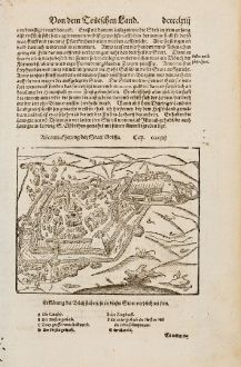 Antique Maps, Münster, Germany, Thuringia, Gotha, 1574: Abcontrafhetung der Statt Gotha