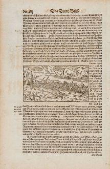Antike Landkarten, Münster, Deutschland, Bayern, Nördlingen, 1574: [Nördlingen]