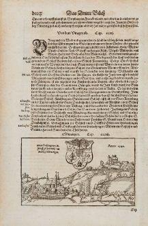 Antike Landkarten, Münster, Deutschland, Baden-Württemberg, Ellwangen, 1574: Elbwangen