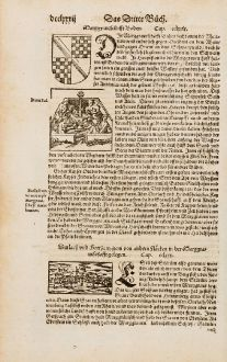 Antique Maps, Münster, Germany, Baden-Württemberg, Karlsruhe, Durlach: Durlach