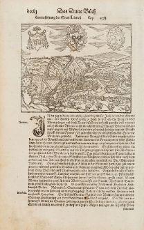 Antique Maps, Münster, Belgium, Wallonia, Liege, 1574: Contrafehtung der Statt Lüttich