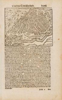 Antique Maps, Münster, Belgium, Antwerp, 1574: [Contrafehtung der Stadt Antorff]